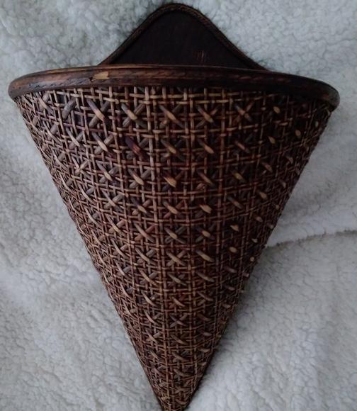 Vintage Wicker Hanging Wall Basket